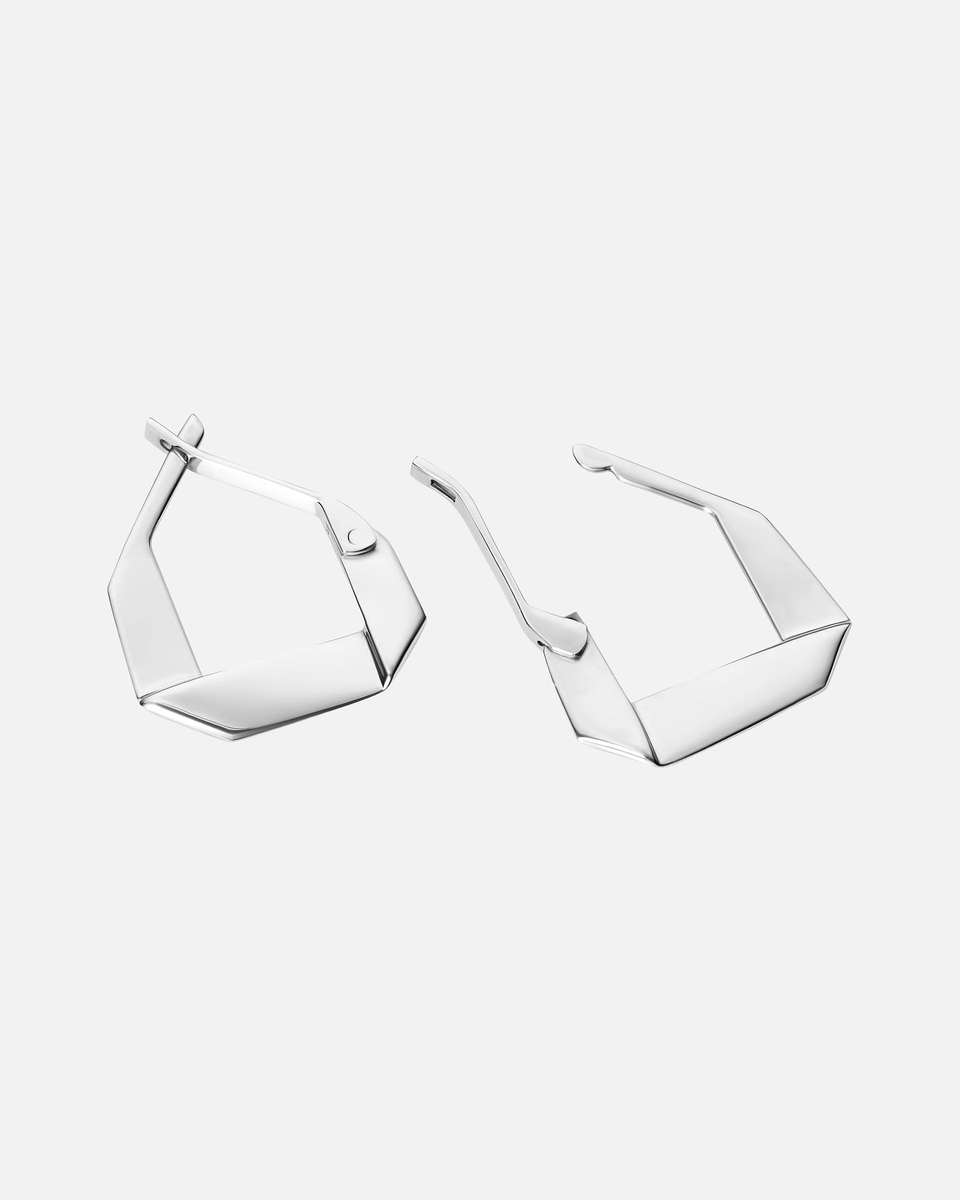 Серьги из сложенного прямоугольника