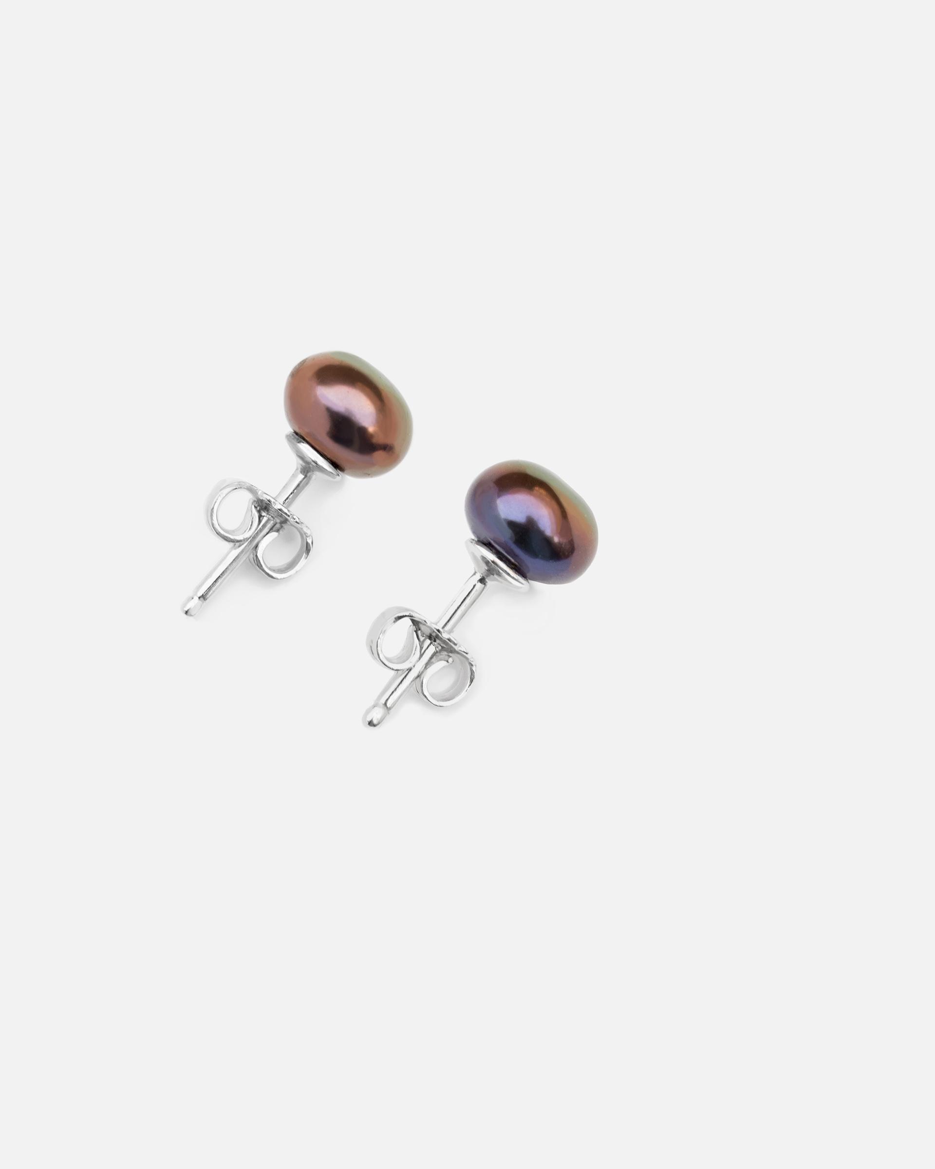Серьги-гвоздики с жемчужинами